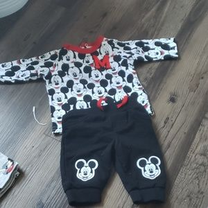 Mickey mouse top and pant set